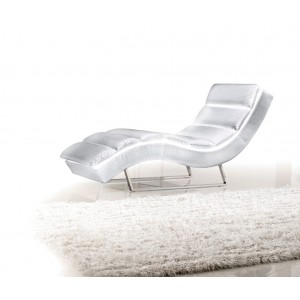 Divani Casa 1185 - Modern Eco-Leather Chaise
