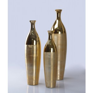 Modrest 1235 3-Piece Gold Vase Set