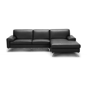 Divani Casa Tansy - Modern Grey Sectional Sofa with Chaise