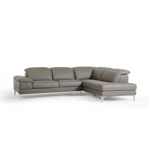 Divani Casa Carnation Modern Grey Eco-Leather Sectional Sofa