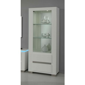 Modrest Elite Italian Modern White 1-Door China Cabinet