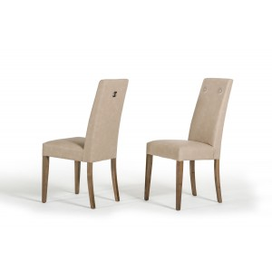 Modrest Athen Italian Modern Dining Chair w/ Buttons (Set of 2)