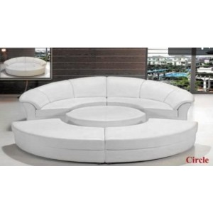 Divani Casa Circle - Modern Leather Circular Sectional 5-Piece Sofa Set
