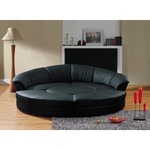 Divani Casa Circle   Modern Bonded Leather Circular Sectional 5 Piece Sofa  Set