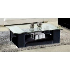 Modrest 2926 Modern Black Bonded Leather Coffee Table