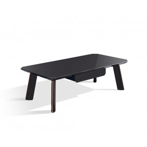 Modrest Chadwick Modern Ebony & Rosegold Coffee Table