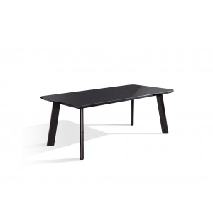 Modrest Chadwick Modern Ebony & Rosegold Dining Table