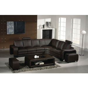 Divani Casa 3330 - Modern Leather Sectional Sofa Set