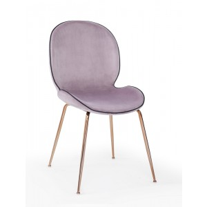 Modrest Wendy Modern Pink Velvet & Rosegold Dining Chair (Set of 2)