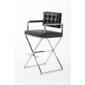 Modrest Coppola Modern Black Bar Stool