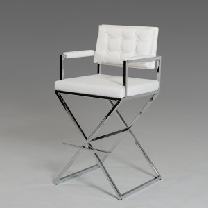 Modrest Coppola Modern White Leatherette Bar Stool