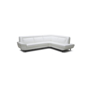 Divani Casa Galway Modern White Leather Sectional Sofa