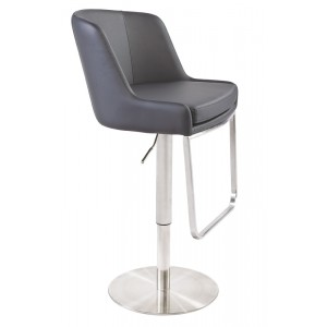 Modrest Lopez Modern Grey Bar Stool