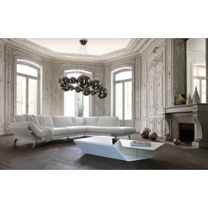 Divani Casa Lidia - Modern White Italian Leather Sectional Sofa