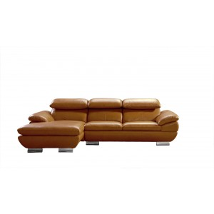 Divani Casa 575 - Modern Camel Full Leather Sectional Sofa