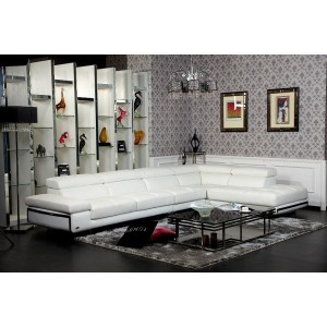 Divani Casa Myst - Modern Eco-Leather Sectional Sofa