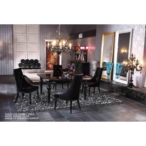 A&X Manor Square Black High Gloss Table