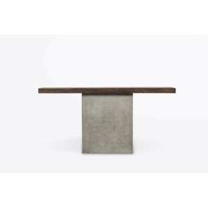 Modrest Renzo Modern Oak & Concrete Console Table