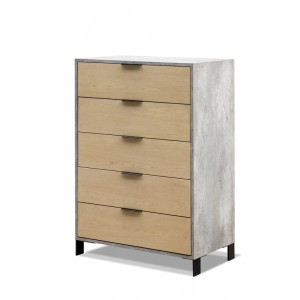 Nova Domus Conner Modern Light Walnut & Concrete Chest