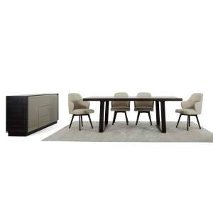 A&X Caligari Modern Oak Dining Set