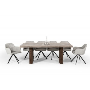 Modrest Rime Modern Concrete & Oak Dining Table