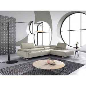 Estro Salotti Wish Modern Grey Leather Sectional Sofa