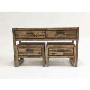 Modrest Mandy Modern Nutmeg Acacia Console & End Table Set