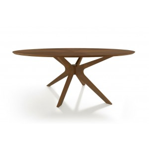 Modrest Prospect - Modern Oval Walnut Dining Table