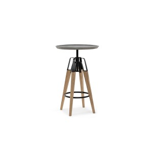 Modrest Yates Modern Concrete & Oak Bar Table