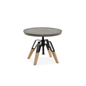 Modrest Yates Modern Concrete & Oak End Table