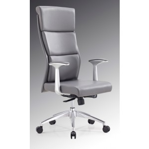 Modrest Ellison Modern Grey High-Back Office Chair