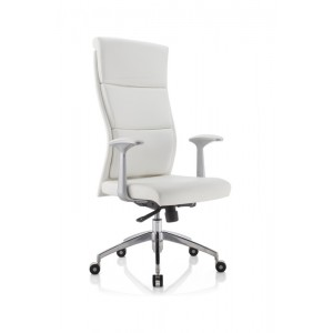 Modrest Ellison Modern White High-Back Office Chair