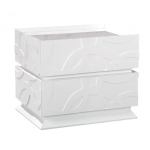 Temptation Ariel Modern 2-Drawer Nightstand
