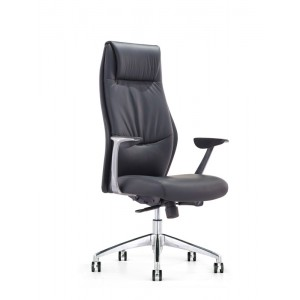 Modrest Dauman Modern Black High-Back Office Chair