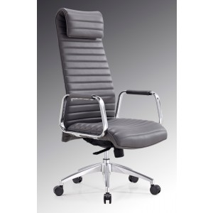 Modrest Mayer Modern Grey High-Back Office Chair