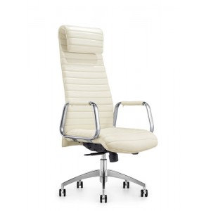 Modrest Mayer Modern White High-Back Office Chair