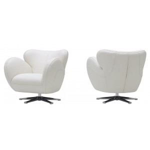 Divani Casa Covina - Modern Leather Swivel Lounge Chair