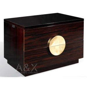 A&X Tuscany - Ebony Lacquered Nightstand