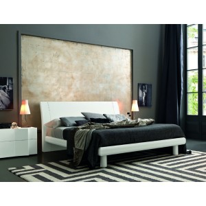 SMA Armonia Wood- Modern Bed In Wood with Swarovski Crystals
