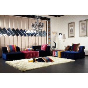 Divani Casa Dubai - Contemporary Fabric Sectional Sofa