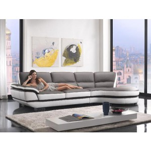 Divani Casa Rapture - Modern Eco-Leather Sectional Sofa