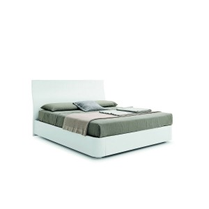 SMA Evita - Modern White Fabric Bed