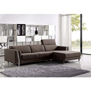 Divani Casa Ardmore - Modern Fabric Sectional Sofa Set