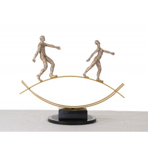Modrest SZ0241 - Modern Bronze Acrobats-Tightrope Sculpture