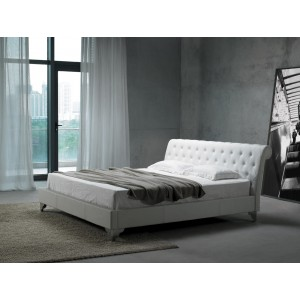 san remo modern leather wrapped bed