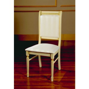 Modrest Rossella - Italian Classic Beige Fabric Dining Chair