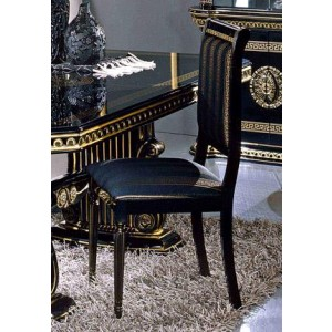Modrest Rosella - Italian Classic Black Fabric Dining Chair