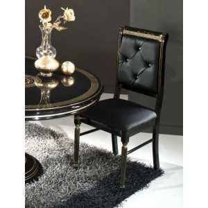 Modrest Rosella - Italian Classic Black Leather Dining Chair
