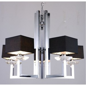 Modrest Imogen Modern Chrome and Black Chandelier Lamp