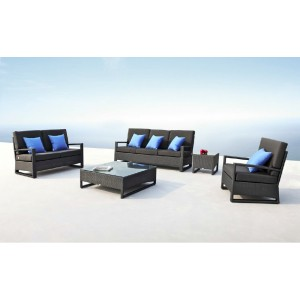 Renava Lavita - Sofa, Loveseat, Chair, End Table and Coffee Table Patio Set